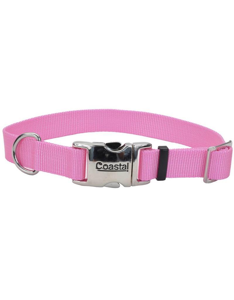 "Coastal Metal Buckle Collar Pink 1""W 26""L"
