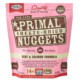 Primal Feline Freeze-Dried Raw Nuggets Beef & Salmon 14oz