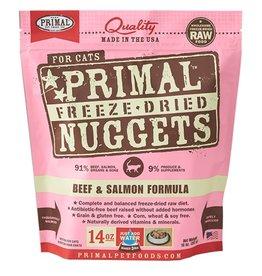 Primal Pet Freeze-Dried Nuggets Beef & Salmon Formula 14oz
