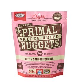Primal Pet Freeze-Dried Nuggets Beef & Salmon Formula 5.5oz
