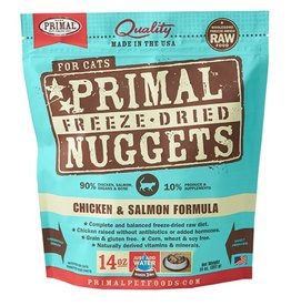 Primal Pet Freeze-Dried Nuggets Chicken & Salmon Formula 14oz