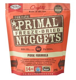 Primal Feline Freeze-Dried Raw Nuggets Pork 14oz