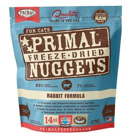 Primal Feline Freeze-Dried Raw Nuggets Rabbit 14oz