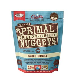 Primal Pet Freeze-Dried Nuggets Rabbit Formula 5.5oz