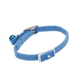 "Coastal Cat Collar with Bow Blue 5/16'W 8""L"
