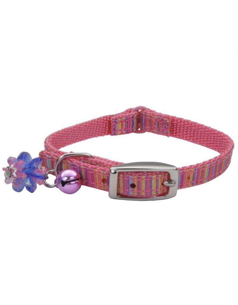 """Coastal Cat Collar Pink Stripe 5/16""""W 8""""L"""