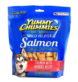 Yummy Chummies Salmon with Berries Recipe Grain-Free Dog Treats 4oz