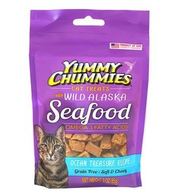 Yummy Chummies Ocean Treasure Recipe Grain-Free Cat Treats 3oz
