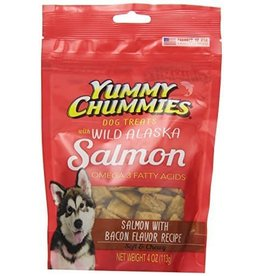 Yummy Chummies Salmon with Bacon Flavor Recipe Dog Treats 4oz