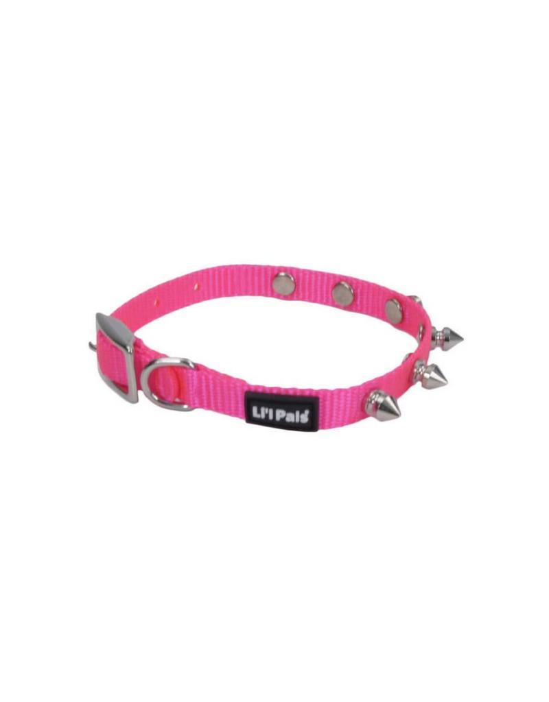 """Coastal Collar Pink Spike 3/8""""W 8""""L"""