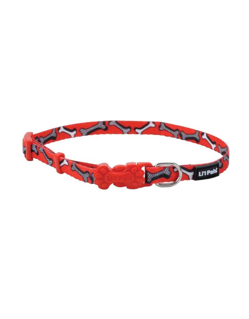 "Coastal Collar Red Bones 5/16""W 7""L"