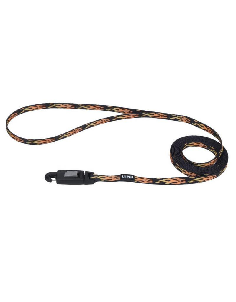 "Coastal Leash Black Flames 5/16""W 6'L"