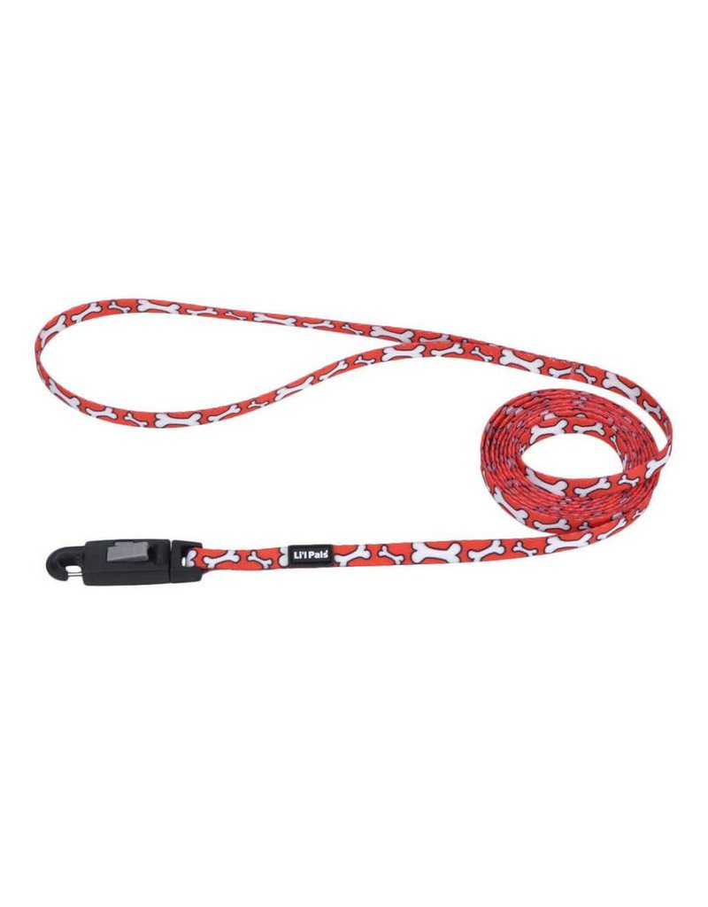 "Coastal Leash Red Bones 5/16""W 6'L"