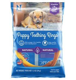N-Bone Puppy Teething Ring Pumpkin Flavor Dog Treats 1pk