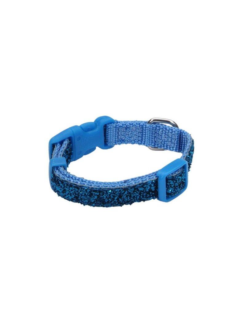 "Coastal Collar Blue Sparkle 3/8""W 8""L"