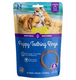 N-Bone Puppy Teething Ring Pumpkin Flavor Dog Treats 6rings