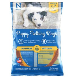 N-Bone Puppy Teething Ring Chicken Flavor Dog Treats 1pk