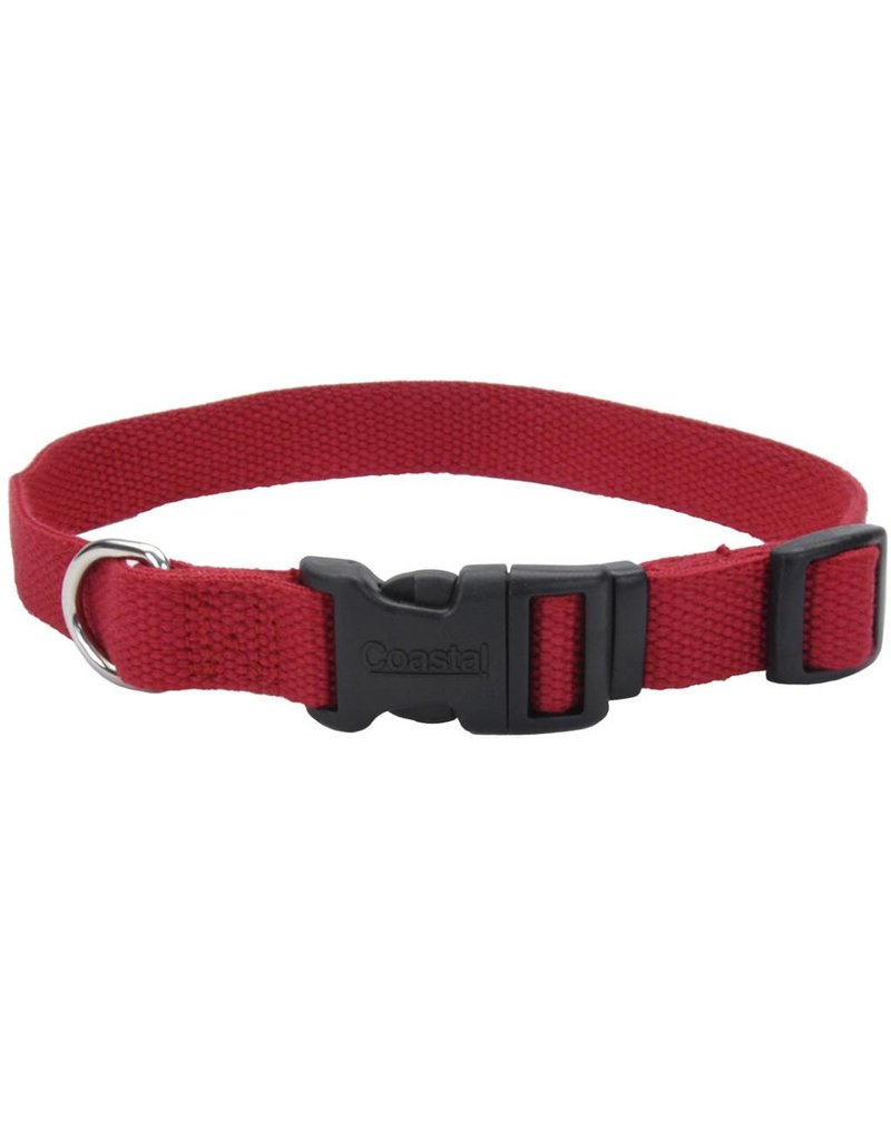 "Coastal Soy Collar Cranberry 5/8""W 12""L"