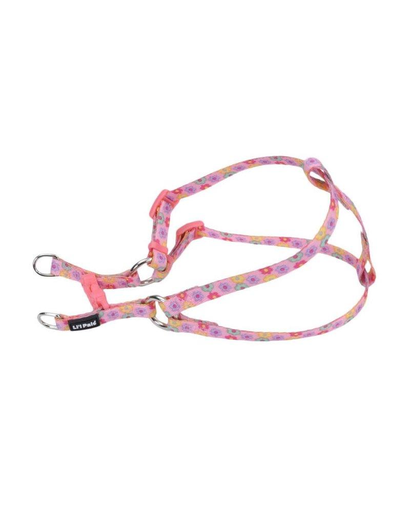 """Coastal Comfort Harness Pink Daisies 5/16""""W 14""""L"""