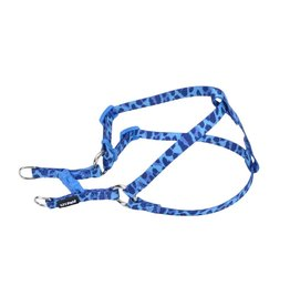 "Coastal 5/16"" Comfort Harness Blue Leopard 14"""