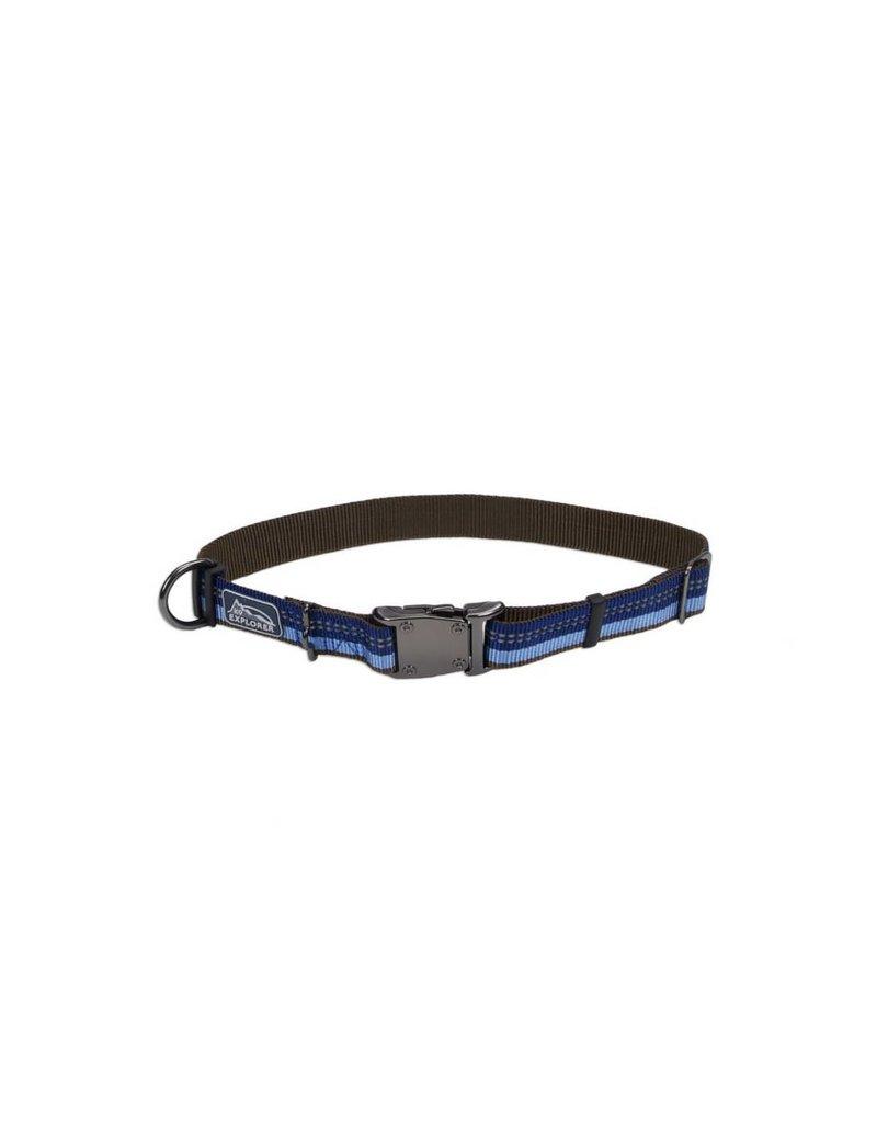 """Coastal Metal Buckle Collar Sapphire 1""""W 18""""L"""