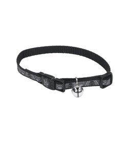 Coastal 3/8 Reflective Cat Collar Skull and Crossbones 12""