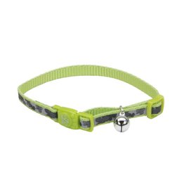 Coastal 3/8 Reflective Cat Collar Shamrocks 12""
