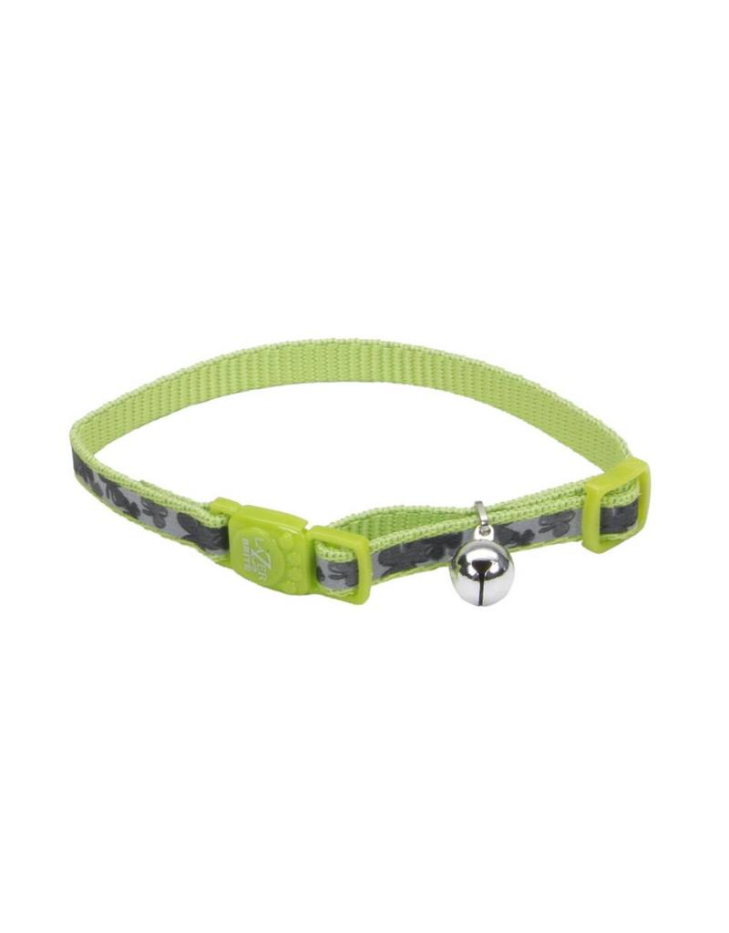 "Coastal Reflective Cat Collar Shamrocks 3/8""W 12""L"