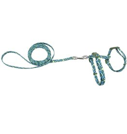 "Coastal 3/8"" Harness with Lead Green Dots 18"""