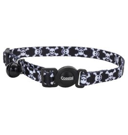 """Coastal 3/8"""" Safety Cat Collar Skulls 12"""""""