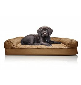 FurHaven Quilted Orthopedic Sofa Bed - Small - Brown