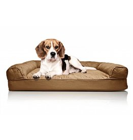 FurHaven Quilted Orthopedic Sofa Bed - Medium - Brown