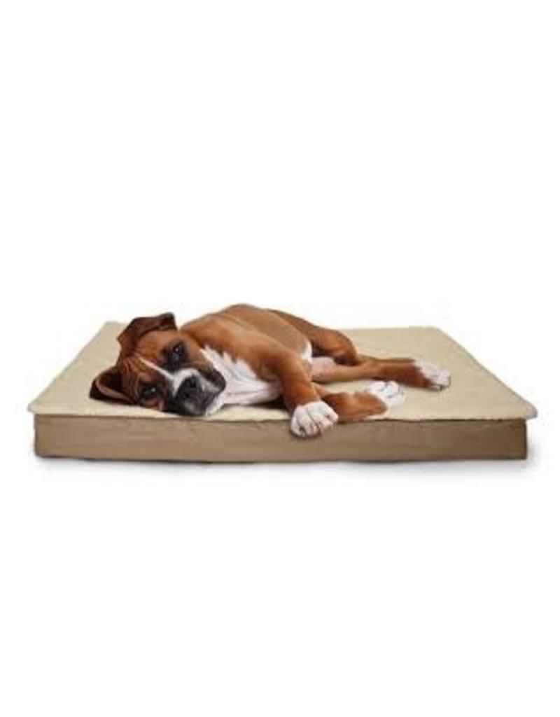 FurHaven Deluxe Indoor/Outdoor Convertible Bed -Jumbo - Sand