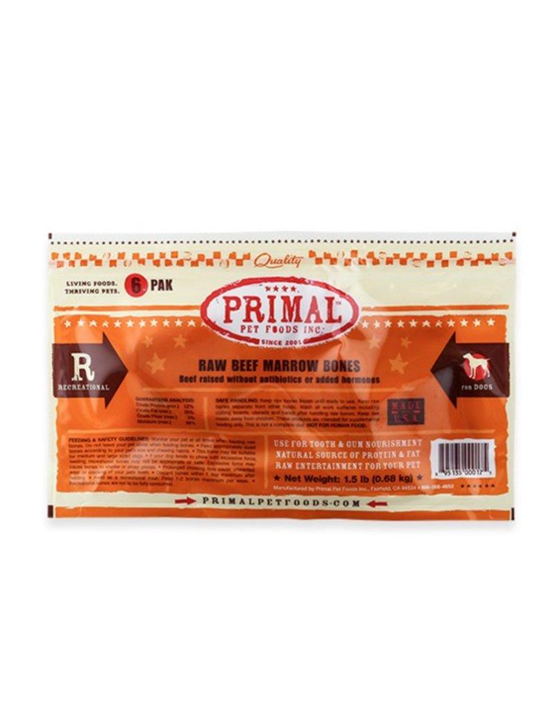 Primal Frozen Raw Beef Bones 6pk