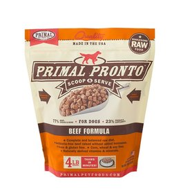 Primal Pet Pronto Frozen Beef Formula 4lb