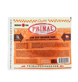 Primal Frozen Raw Beef Marrow Bone Medium