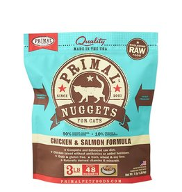 Primal Feline Frozen Raw Nuggets Chicken & Salmon 3lb