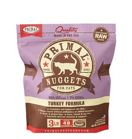 Primal Pet Frozen Nuggets Turkey Formula 3lb