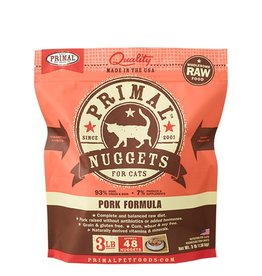 Primal Feline Frozen Raw Nuggets Pork 3lb