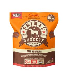 Primal Canine Frozen Raw Nuggets Beef 3lb
