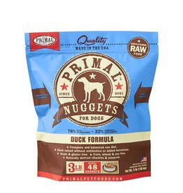 Primal Canine Frozen Raw Nuggets Duck 3lb