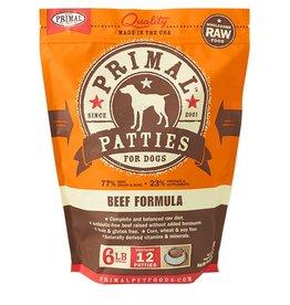 Primal Canine Frozen Raw Patties Beef 6lb