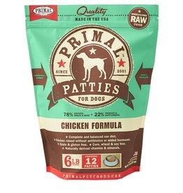 Primal Canine Frozen Raw Patties Chicken 6lb