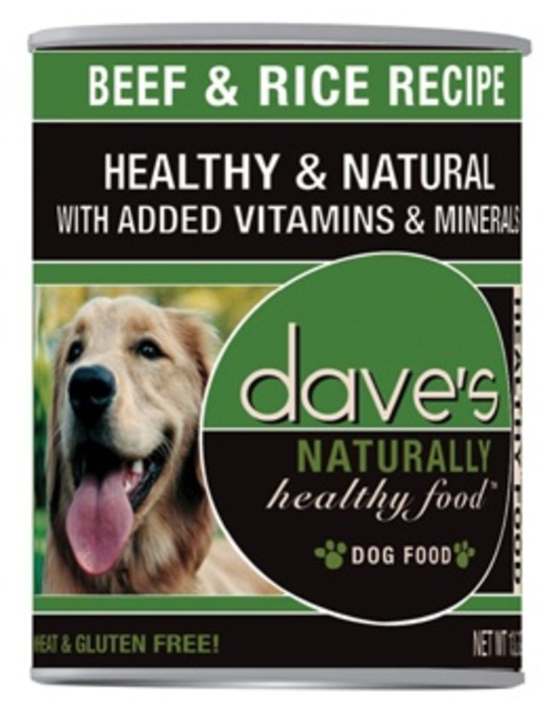 Dave's Dog Naturally Healthy Beef & Rice 13.2oz