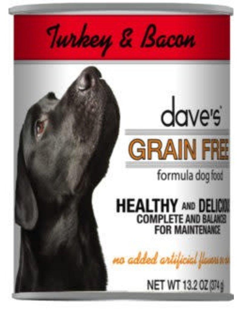 Dave's Dog Grain Free Turkey & Bacon 13.2oz