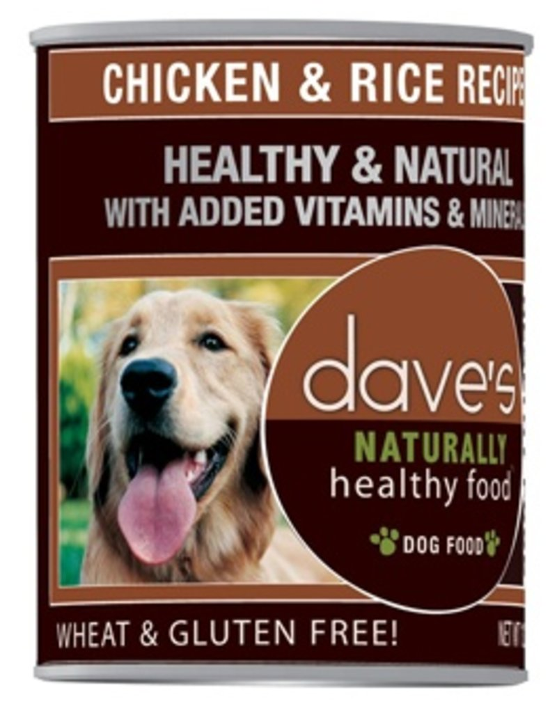 Dave's Dog Naturally Healthy Chicken & Rice 22oz