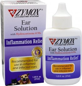 Zymox Ear Solution 1.25 oz Bottle with .5% Hydrocortisone
