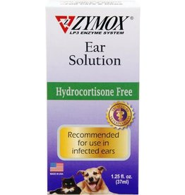 Zymox Ear Solution w/out hydrocortisone 1.25oz bottle