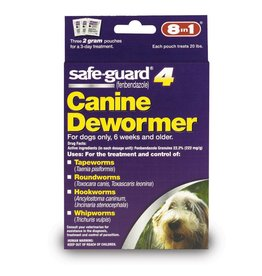 8 in 1 Safe-Guard 4 Canine Dewormer Medium Dog