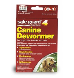8 in 1 Safe-Guard 4 Canine Dewormer for Large Dogs